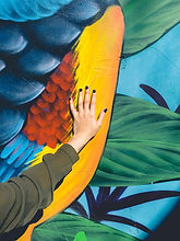 Hand on Graffiti