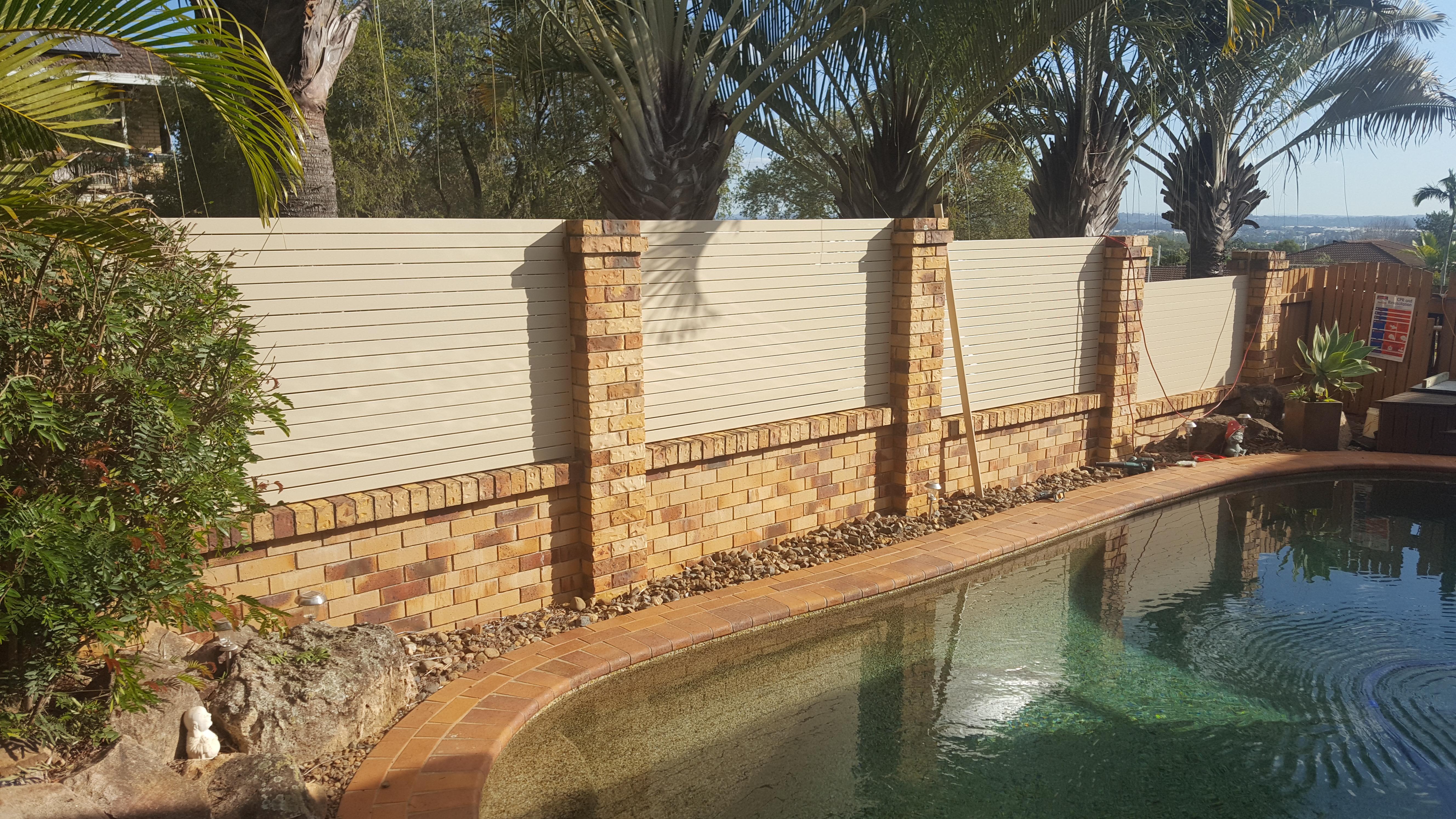 Aluminium Slat Fence Insert Panel