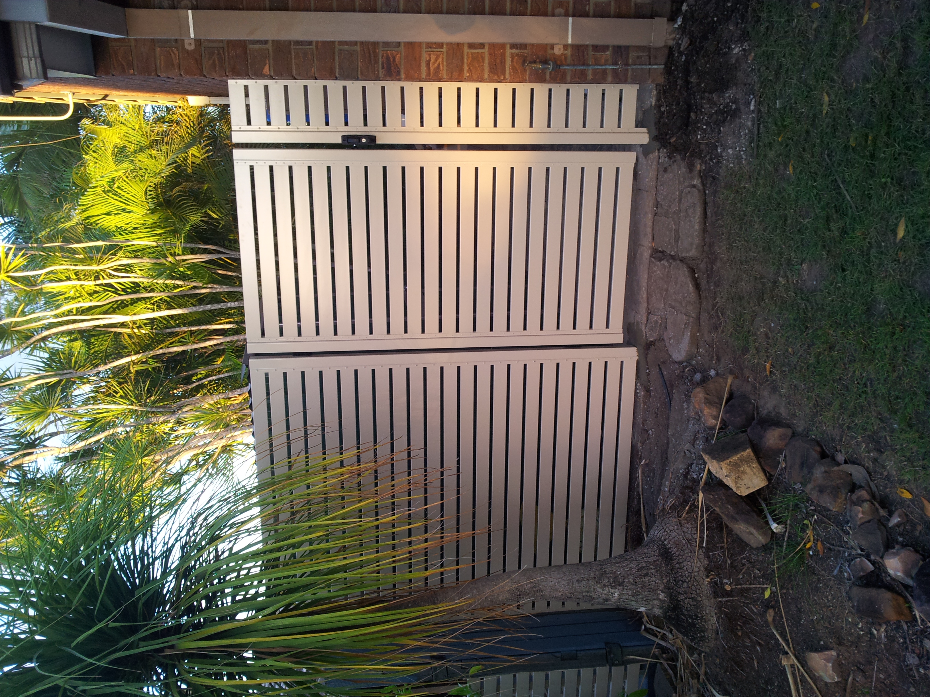 Aluminium Slat Single Gate & Return
