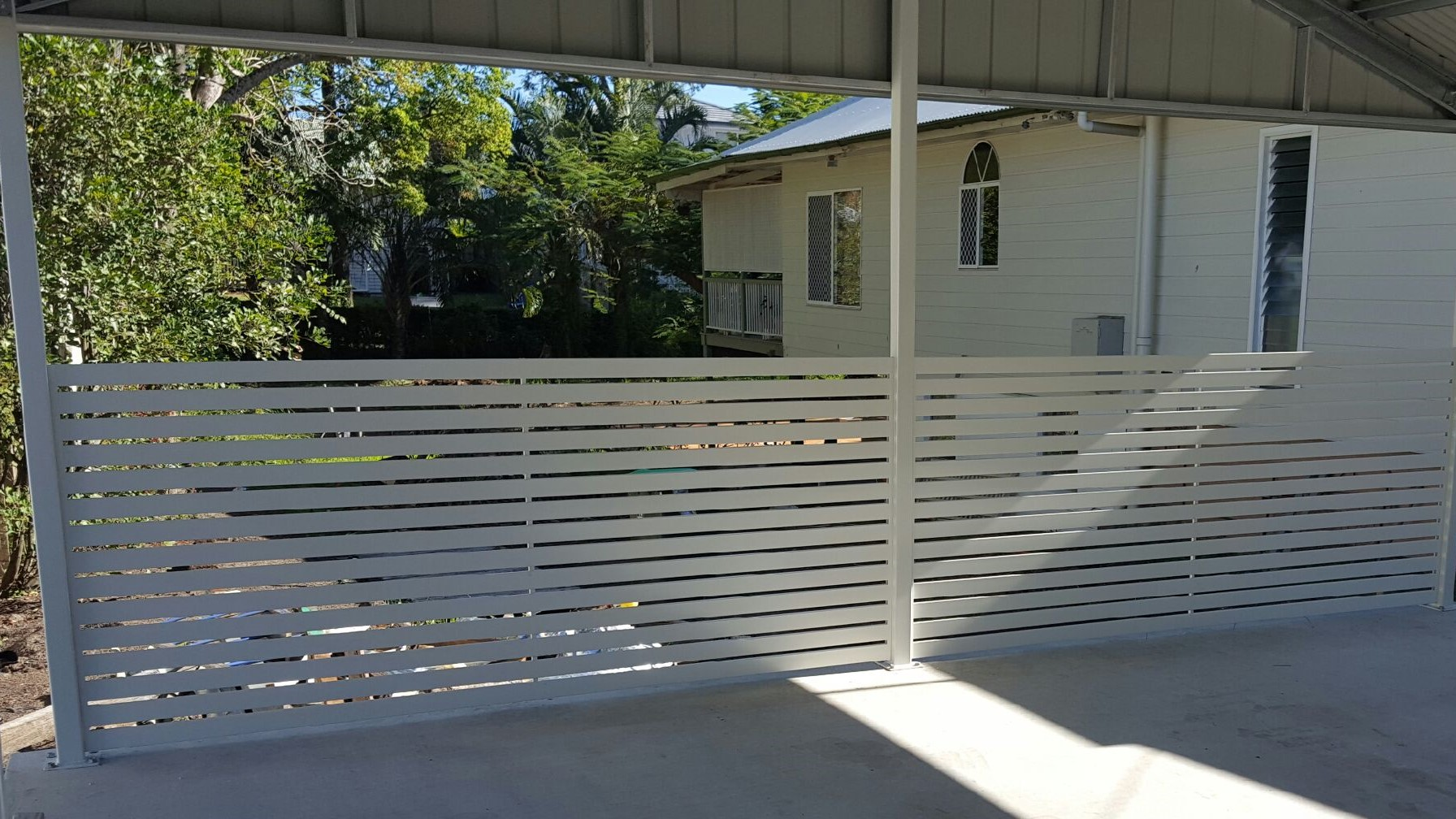 Aluminium Slat Carport Screen