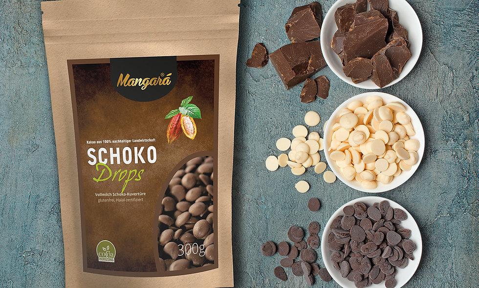 Mangara® 300g Vollmilch Schokoladen Drops
