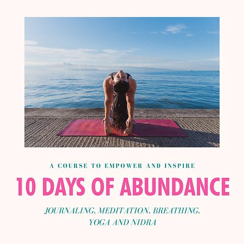 10 DAYS OF ABUNDANCE COURSE