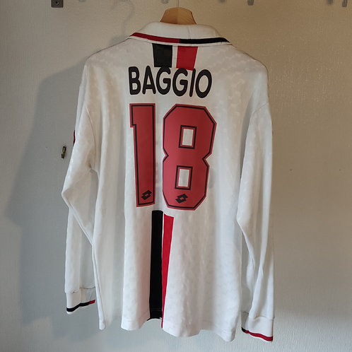 AC Milan 95/96 Player Spec Away LS - Baggio 18 - Size L
