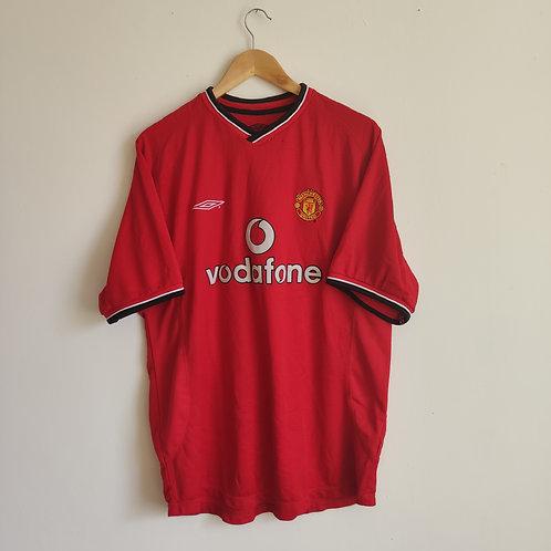 Man United 00-02 Home - Yorke 19 - Size XL
