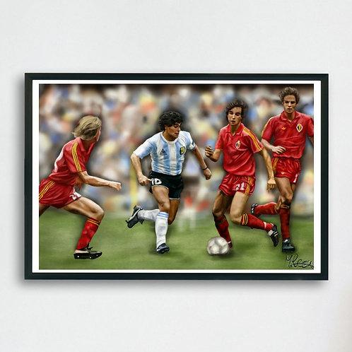 Diego vs. Belgium - by Gosia Reza Art
