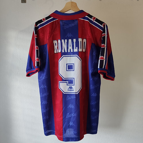 Barcelona Player Issue 96/97 Home - Ronaldo 9 - Size M (Fits L)