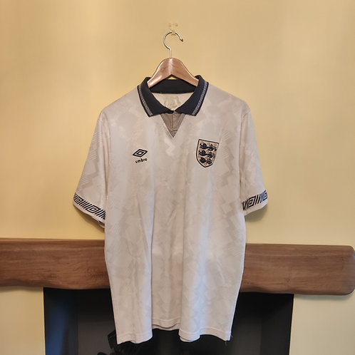 England 90-92 Home Shirt - Size L