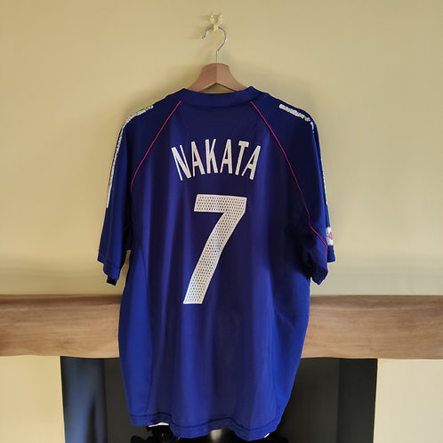 Japan Player Issue 2002 Home Shirt - Size L - Nakata #7