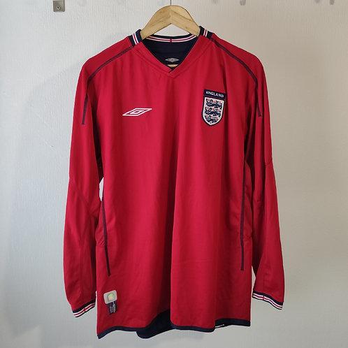 England 2002 Away LS - Size L/XL