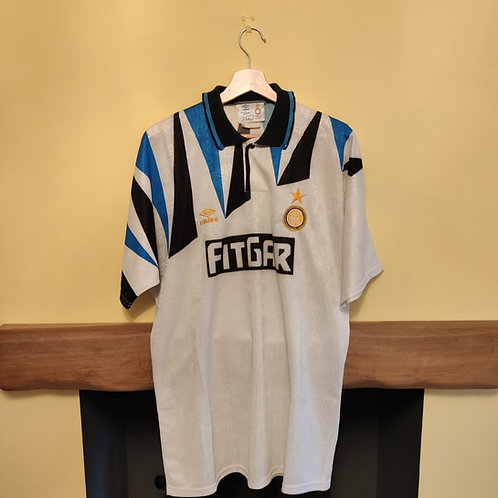 Matchworn Inter Milan 91/92 Away - Size L/XL