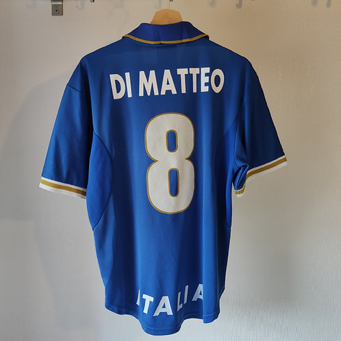 Italy 96 Player Issue Home - Di Matteo 8 - Size L