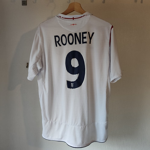 England 05-07 Home - Rooney 9 - Size L