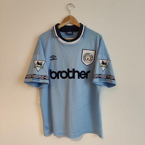 Manchester City 93-95 Home - Rosler - Size L