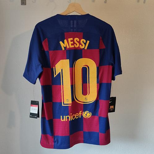 BNWT Barcelona 19/20 Vapour Home - Messi 10 - Size L