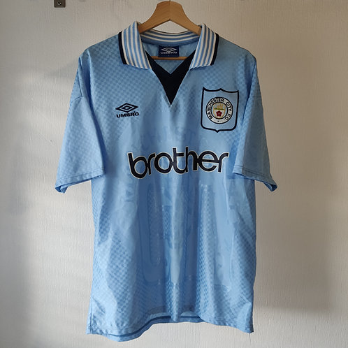 Manchester City 95-97 Home - Size L