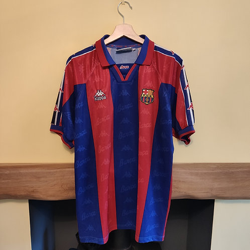 Barcelona 95-97 Home Shirt - Size M