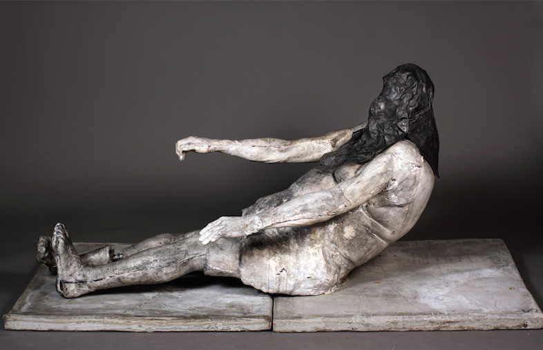 AUTUMN (RECLINING NUDE WITH LEAD VEIL)
