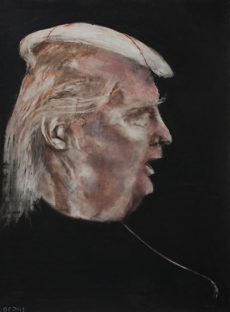 air balloon of donald trump's head
