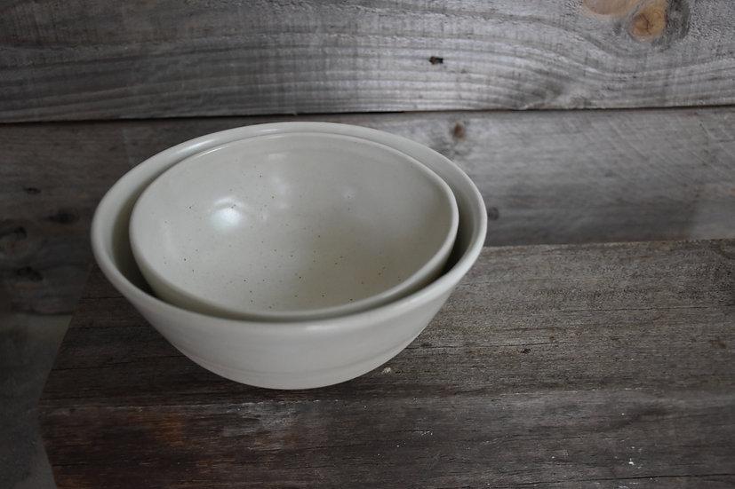 Classic Satin White Nesting Bowls