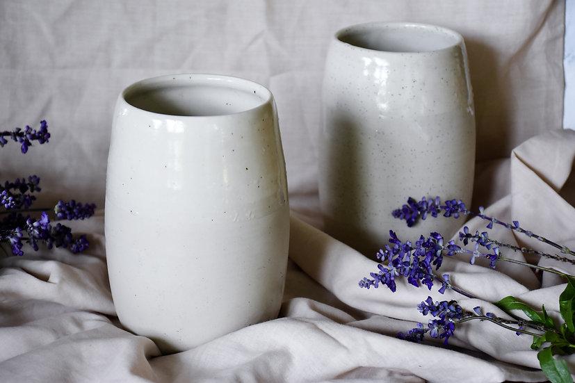 Classic Satin White Vase