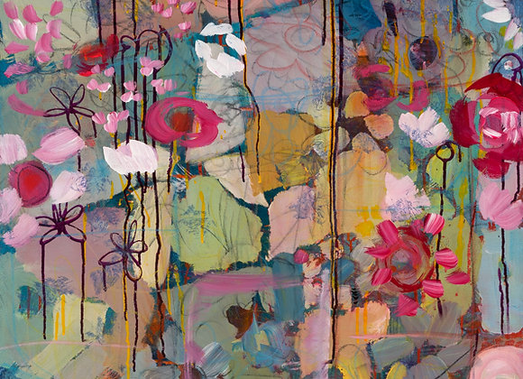 Fractured Flowers 36x48