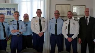 Une rencontre inédite au sein du Commandement de la Gendarmerie de l'Outre-Mer