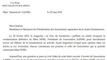 Affaire du gendarme harcelé par une présidente d'association signataire de la charte gendarmerie.