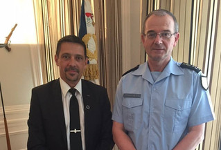 Entretien avec le Directeur Général de la Gendarmerie Nationale.