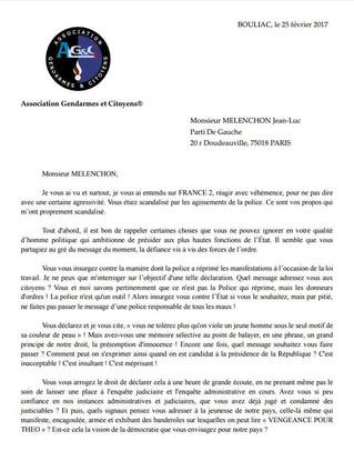 Lettre ouverte à Jean-Luc MELENCHON