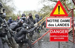 On déplore déjà 41 gendarmes blessés à Notre Dame Des Landes.