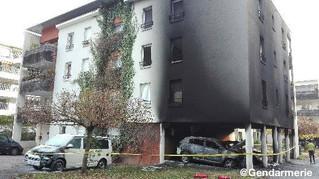 Incendie à la Gendarmerie de MEYLAN