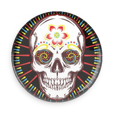 VTC Skull Button