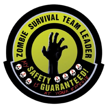 ZOMBIE SURVIVAL TEAM LEADER Die-Cut Sticker