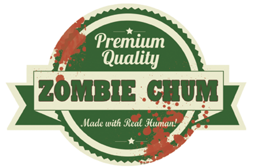 ZOMBIE CHUM! Die-Cut Vinyl Sticker