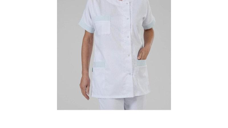 Tunique médicale finition vert fond Blanc