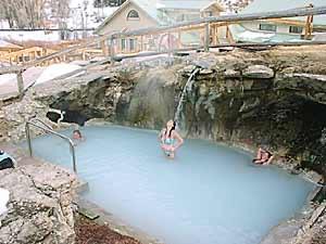 Hot Sulphur Springs Waterfall Pool - Gra