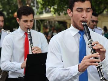 Participação da Banda Sinfônica na solenidade alusiva ao 7 de setembro