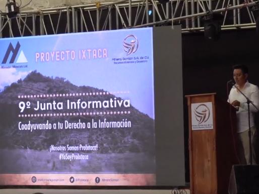 Minera Gorrión Informa Sobre Suspensión De Reunión Con Comunidades De Ixtacamaxtitlán