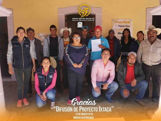 Cruz de León Visitan Proyecto de Exploración Ixtaca