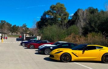 Vettes parked