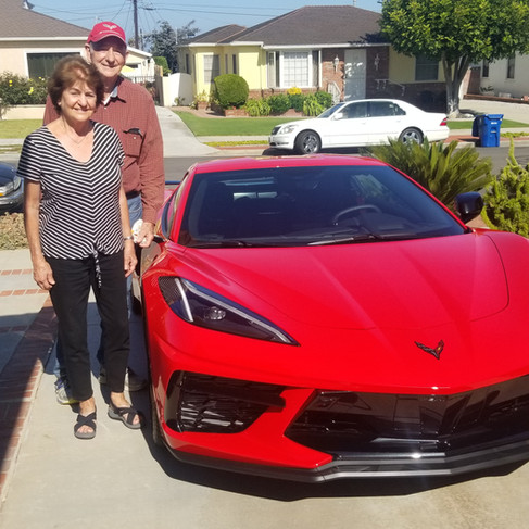 John & Linda with new C8