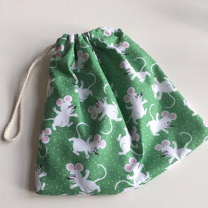 White Mice Accessory Bag