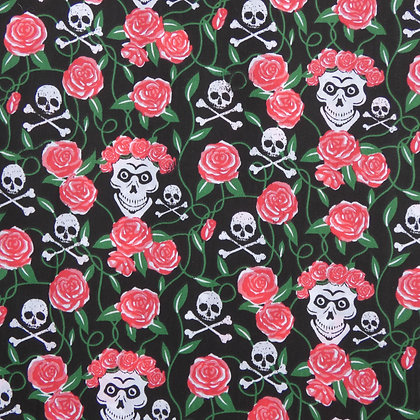 Skulls and Roses Face Mask