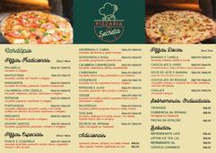 Conheça o NOVO cardápio da Pizzaria Secreta.