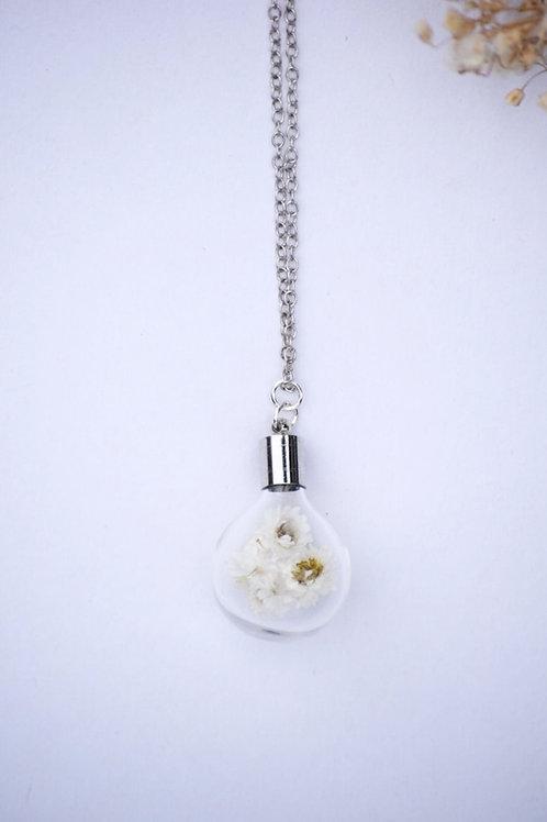 White Paper Flower Globe Pendant