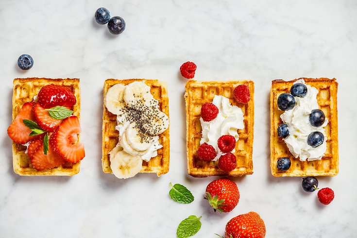 traditional-belgian-waffles-with-whipped