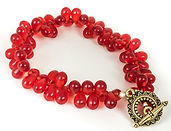 Berry w/toggle  bracelet