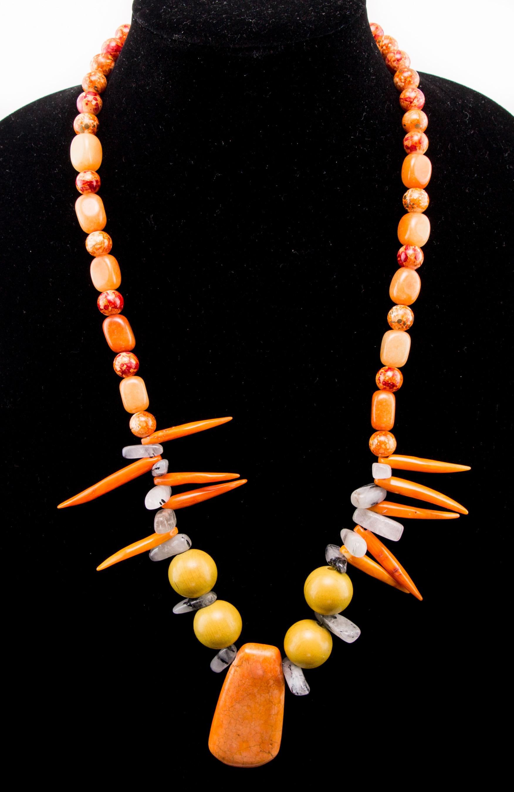 Bayou beaver fangs women's necklace