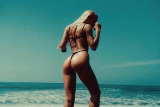 Black bikini swimwear sexy butt ass beach bali model film
