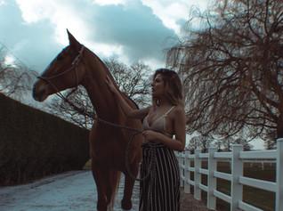 model london lingerie black sexy horse grain film dramatic